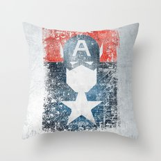 Yankee Captain grunge superhero Throw Pillow