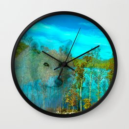 THE DAY OF THE WHITE WOLF Wall Clock
