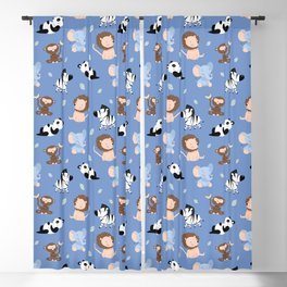 The jungle animals pattern Blackout Curtain