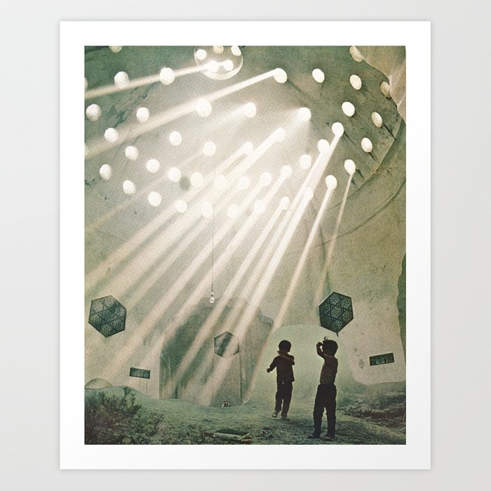 laboratory in the sky... Art Print