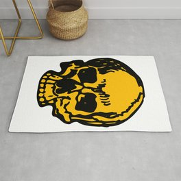 24K Gold Pirate Skull, Vibrant Skull, Super Smooth Super Sharp 9000px x 11250px PNG Rug