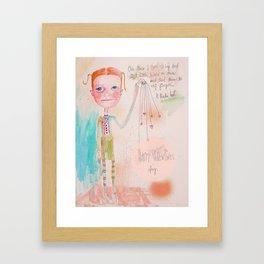 The Awkward Valentine Framed Art Print