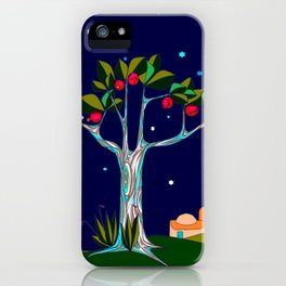 A Pomegranate Tree in Israel at Night, Harvest iPhone Case