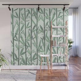 Bamboo Forest Watercolor Wall Mural