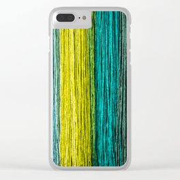 Colorful fibers Clear iPhone Case