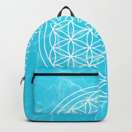 Mermaid Flower of Life + Donation for Marine Conservation Backpack
