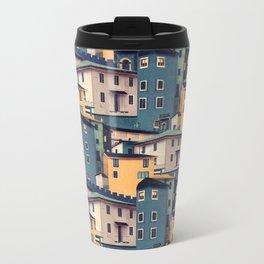 Night Castles (Pattern) Metal Travel Mug