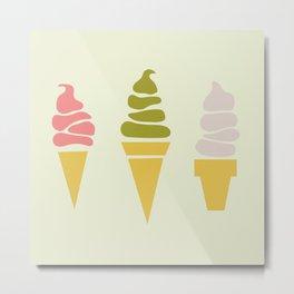 Matcha Ice Cream Metal Print