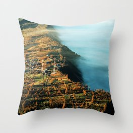 The City at the Edge of Clouds Throw Pillow