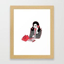 RING RING! Framed Art Print