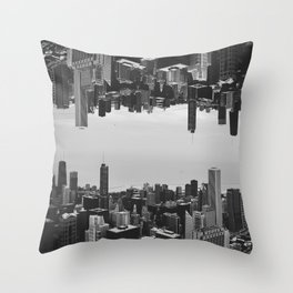 Chicago Double Exposure Throw Pillow