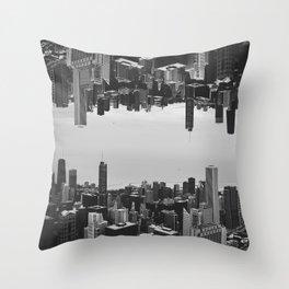 Chicago Double Exposure Throw Pillow