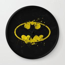 Bat man's Splash Wall Clock