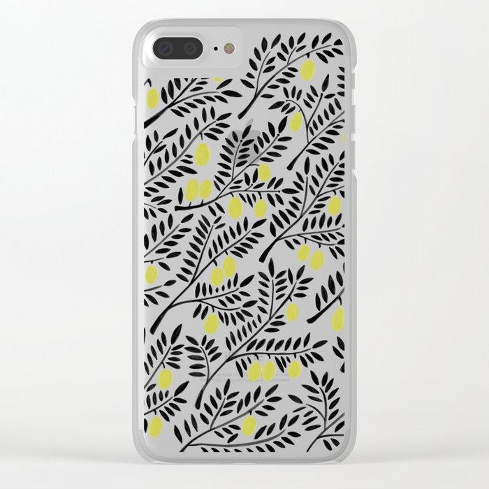 Little Lemons Clear iPhone Case