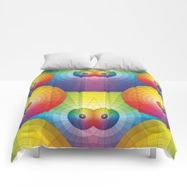 Rainbow Pretty Circles Color Wheel Awesome Thing Comforters