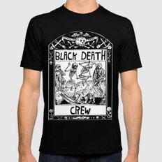 Black Death Crew Mens Fitted Tee Black SMALL
