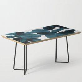 Indigo Blue Plant Leaves Coffee Table