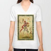 death V-neck T-shirts featuring Death by Alexander Skachkov