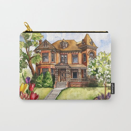 Victorian Mansion in the Spring Carry-All Pouch