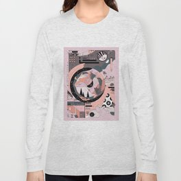 Dinosaur in the Kitchen Long Sleeve T-shirt