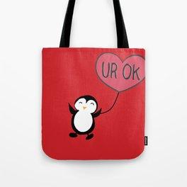 UR OK Penguin in love Tote Bag