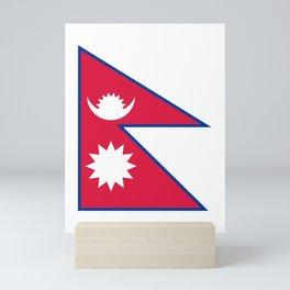 Nepal Flag Nepalese Nepali Triangle Flag Mini Art Print
