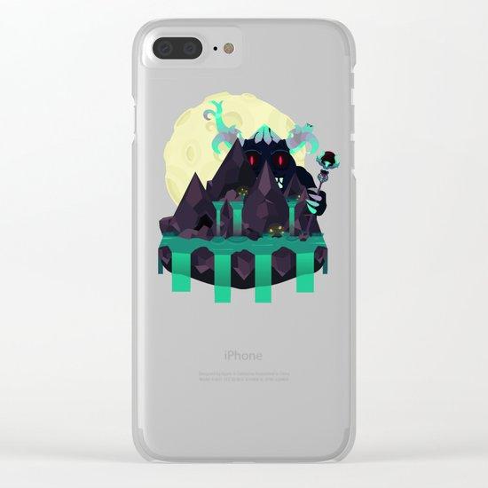 Moonlit Titan Clear iPhone Case