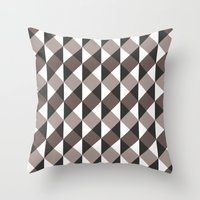 gray pattern Throw Pillows featuring Pattern Gray by Sonia Marazia