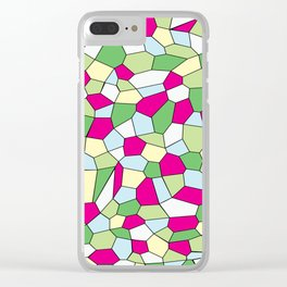 Pastel Mosaic Clear iPhone Case