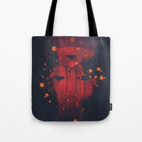 transformers Tote Bags featuring Grunge Transformers: Autobots by Sitchko Igor