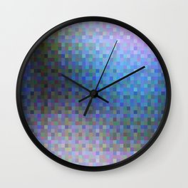 Pastel Squares Wall Clock