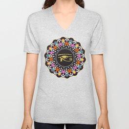 Eye of Horus Mandala Unisex V-Neck