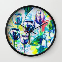 Flower Puzzle (8) Wall Clock