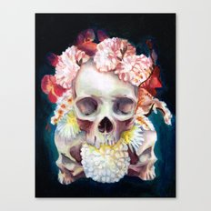 Flowers for Skulls Canvas Print