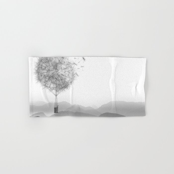 Dandelion Sketch Hand & Bath Towel