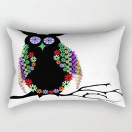 Owl eagle owl bird feather Rectangular Pillow