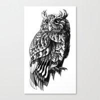 bioworkz Canvas Prints featuring Owl 2.0 by BIOWORKZ