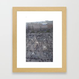 Milano central square from above Framed Art Print