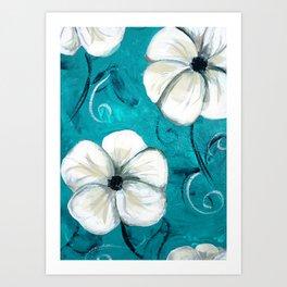 Flowers in Oil Art Print