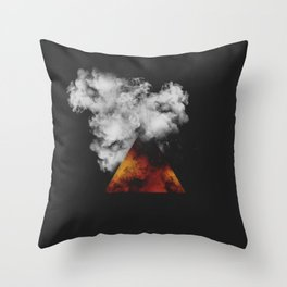 Triangle of Fire & Smoke Throw Pillow