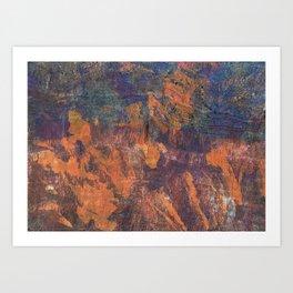 Fluorite Canyon Art Print