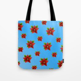 Red Flowers Pattern 2 Tote Bag