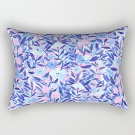 Nonchalant Blue Rectangular Pillow