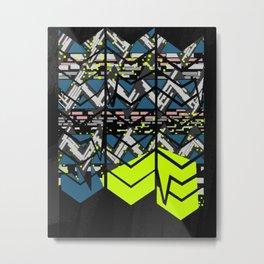 Cobain Zig Zag Metal Print & Fanny Pack Graphic Pattern JFS Metal Print