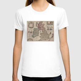 Vintage Map of The British Isles (1617) T-shirt