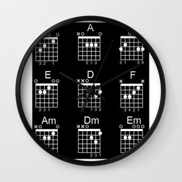 Guitar chords Wall Clock