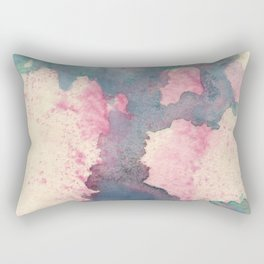 Cloud : gray, pink, magenta, aqua, and cream abstract ink painting Rectangular Pillow