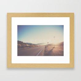 lets get lost together ...  Framed Art Print