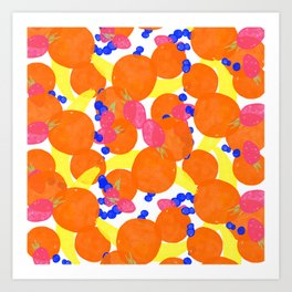 Fruity Pattern Art Print