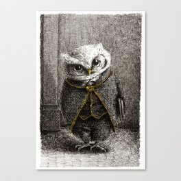 Unlike Father Like Owl Canvas Print